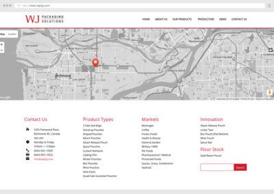 Vancouver Food Packaging Website Design