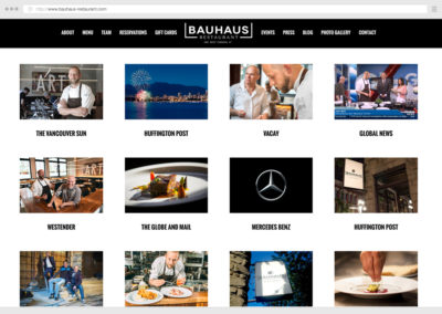Vancouver Restaurant WordPress Web Development