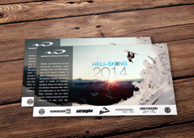 Ski and Snowboarding Postcard Graphic Design