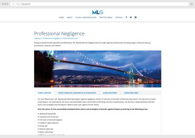 Vancouver Litigation Law Firm Lawyer WordPress Web Design
