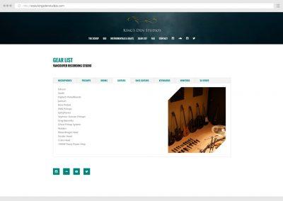 Vancouver Music Recording Studio WordPress Web Design