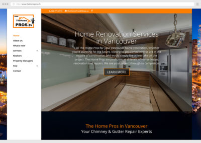 Vancouver Home Renovations WordPress Web Design