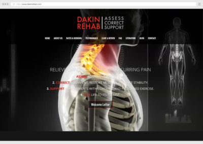 Calgary Registered Massage Therapist WordPress Web Design