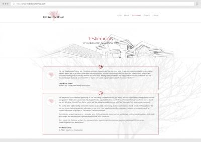 Edmonton Home Construction WordPress Web Design