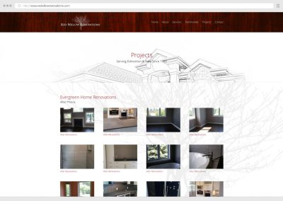 Edmonton Home Renovations WordPress Web Design