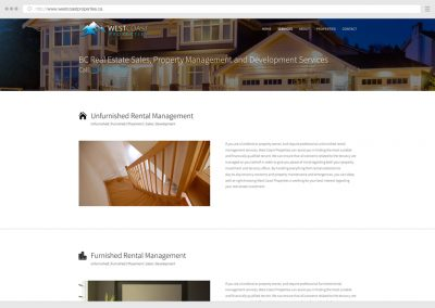 Vancouver Real Estate Property Management WordPress Web Design