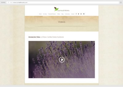 North Vancouver Vitamin Store & Holistic Health WordPress Web Design