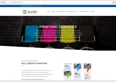 Calgary Printing Services WordPress Web Design