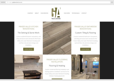 Fraser Valley Tile Setters WordPress Web Design